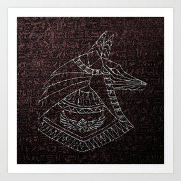 Anubis Egyptian God Art Print