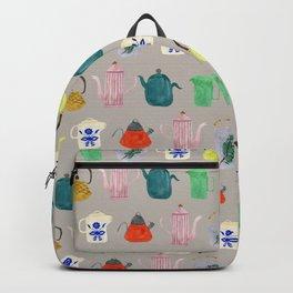 Tea Pots + Coffee Kettles- Gray Backpack