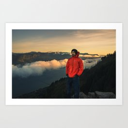 Sunrise Oregon Art Print