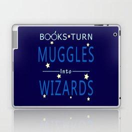 POTTER - BOOKS TURN MUGGLES INTO WIZARDS Laptop & iPad Skin