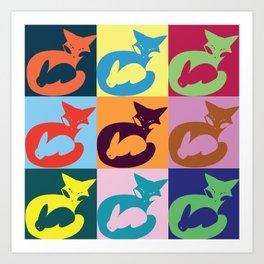 Artpop Fox Art Print
