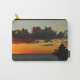 Naples Pier Sunset Carry-All Pouch