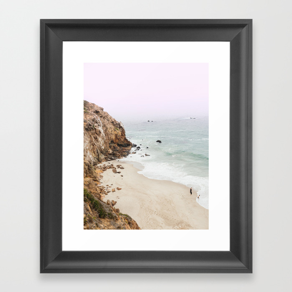 Beach Print - Point Dume, Malibu Framed Art by Fineearthprints FRM7426685