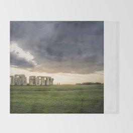 Sunset on Stonehenge Throw Blanket