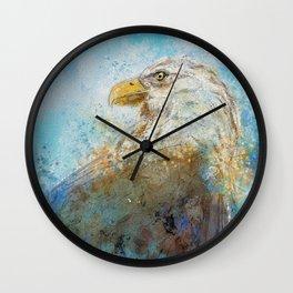 Expressive Bald Eagle Wall Clock
