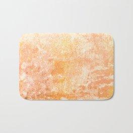Marbling structur in warm orange tones Bath Mat