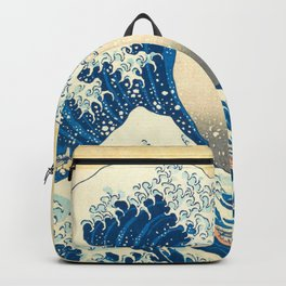 Japanese Woodblock Print The Great Wave of Kanagawa by Katsushika Hokusai Backpack