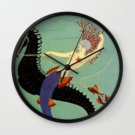 "Art Deco Illustration ""Water"" Wall Clock"