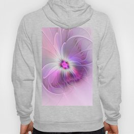 Abstract Flower With Pink And Purple Fractal Hoody