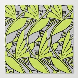 Modern art nouveau tessellations green gray Canvas Print