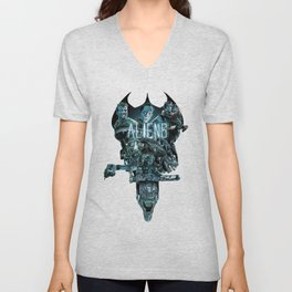 Aliens Illustration Tribute Unisex V-Neck