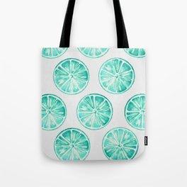 Turquoise Citrus Tote Bag