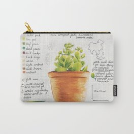 Mini Jade Succulent Carry-All Pouch