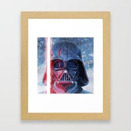 Darth Vader Storm Framed Art Print