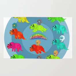 Triceratops Baby Rug