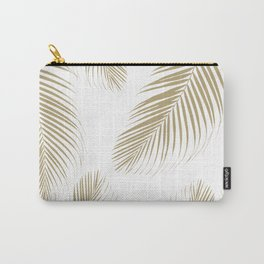 Palm Leaves - Gold Cali Vibes #3 #tropical #decor #art #society6 Carry-All Pouch