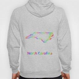 Rainbow North Carolina map Hoody
