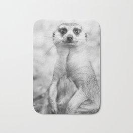 Meerkat portrait Bath Mat