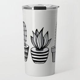 Cactus Plant monochrome cacti nature greyscale illustration floral succulent leaf home wall decor Travel Mug