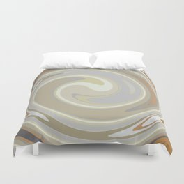 Distorted stripes in colour 3 Duvet Cover