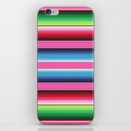 Pink Green Blue Mexican Serape Blanket Stripes iPhone Skin