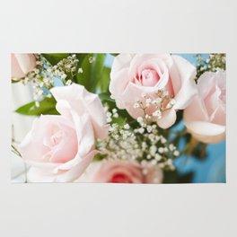 Peach Roses Rug