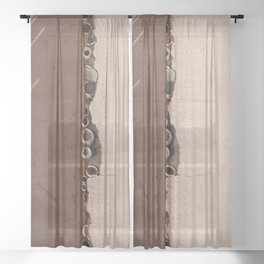 rotated rustic roof Sheer Curtain