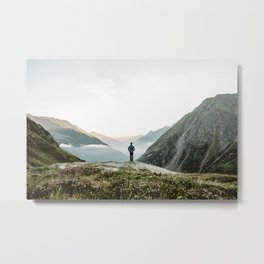 A Mountain Sunrise Metal Print