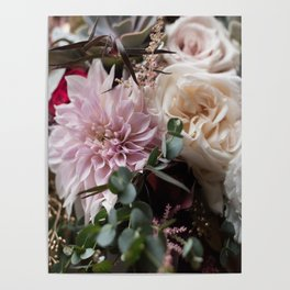 Large floral bouquet - Dahlia and Rose I Poster