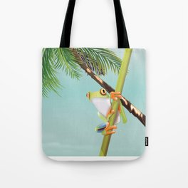 Costa Rica Tree Frog travel poster. Tote Bag