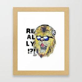 Really!?! Framed Art Print
