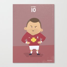 The Tens | Wayne Rooney Canvas Print