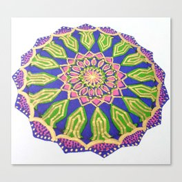 Colourful Spiritual Mandala Art Canvas Print