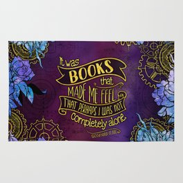 CP - Books Made Me Feel Not Alone (Purple) Rug