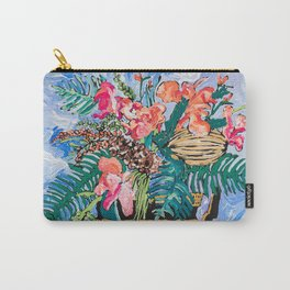 Tropical Banksia Bouquet after Matisse in Greek Boar Urn on Pale Painterly Blue Carry-All Pouch