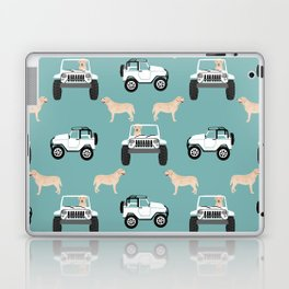 Labrador yellow lab jeep cute dog gifts dog lover pet art Laptop & iPad Skin