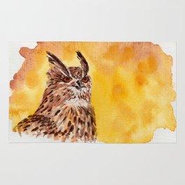 owl-middle owl-hibou moyen duc Rug