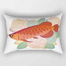 Arowana and peony 3 Rectangular Pillow