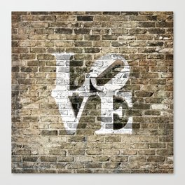 LOVE - PHILLY STYLE Canvas Print