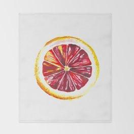Blood Orange Throw Blanket