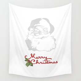 Jolly Santa Merry Christmas Wall Tapestry