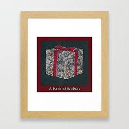 A PACK OF WOLVES Framed Art Print