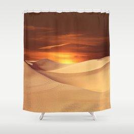 The Sunset On Desert Shower Curtain