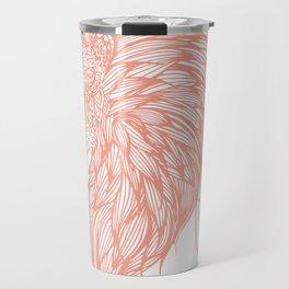 Coral Lion Illustration Travel Mug