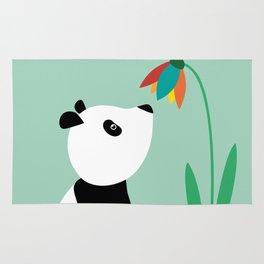 Sweet panda and flower Rug