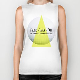 Young, wild and free Biker Tank