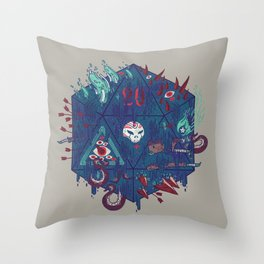 Die of Death Throw Pillow