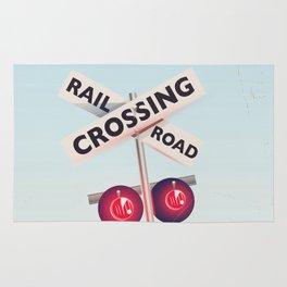 American Railroad crossing Rug