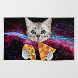 Cat Eat Pizza Rug