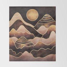 Sunkissed Mountains Throw Blanket